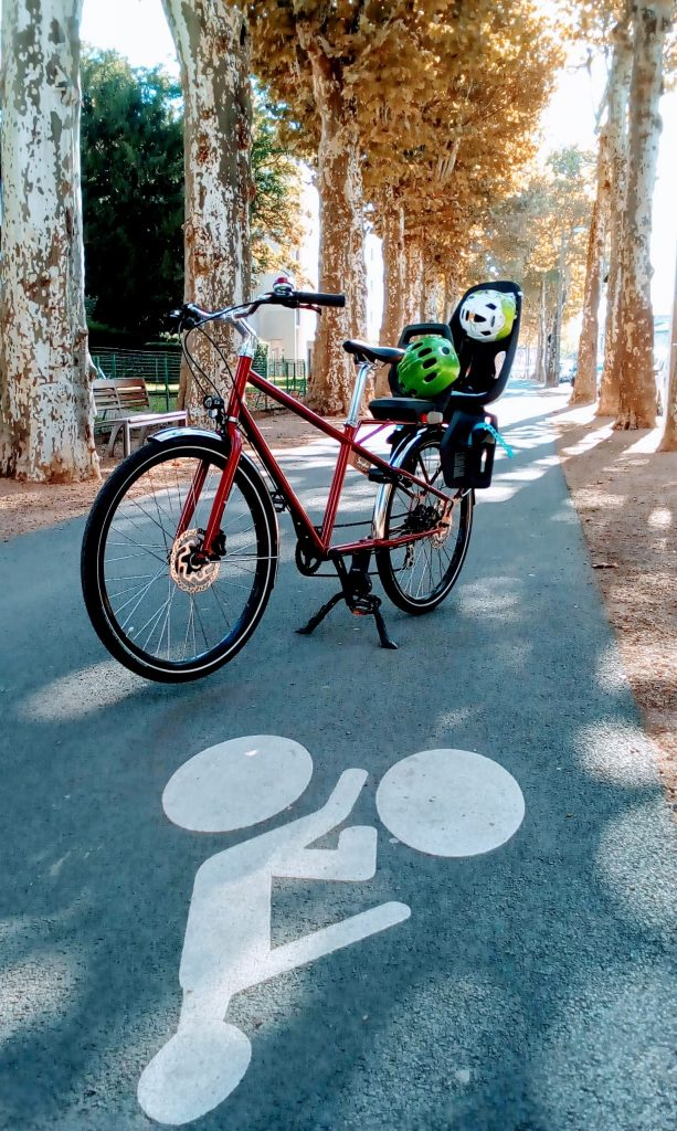 Vélo rallongé piste cyclable